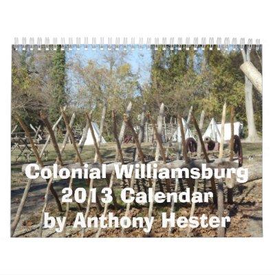 Calendario colonial de Williamsburg 2013