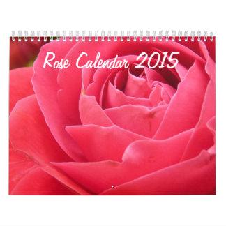 Calendario color de rosa 2015