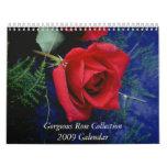 Calendario color de rosa magnífico 2009