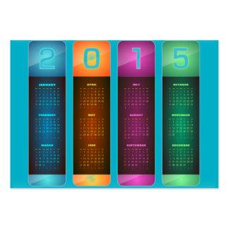 Calendario colorido 2015 elegantes tarjetas de visita grandes