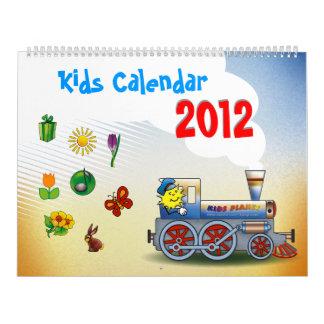 Calendario colorido de 2012 niños