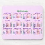 Calendario colorido de 2015 años alfombrillas de ratones