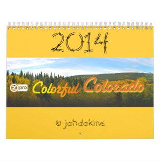 Calendario colorido de Colorado