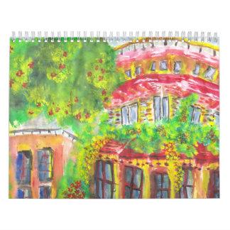 Calendario colorido de la vida