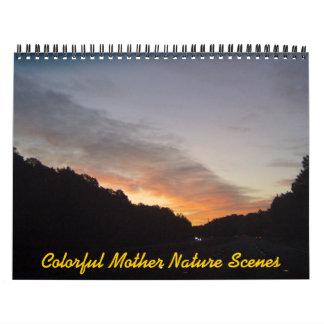 Calendario colorido de las escenas de la madre