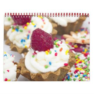 calendario colorido de las tortas