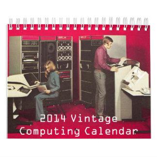 Calendario computacional del vintage