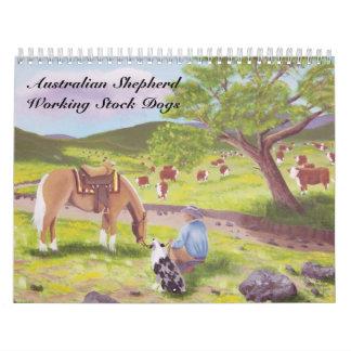 Calendario común de trabajo del perro del pastor