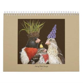 Calendario con arte del aserrador de Vicki