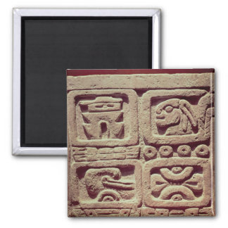 Calendario con cuatro glyphs, Toltec Imán Cuadrado