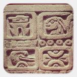 Calendario con cuatro glyphs, Toltec Colcomanias Cuadradas