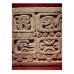 Calendario con cuatro glyphs, Toltec Tarjeta Postal