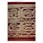 Calendario con cuatro glyphs, Toltec Tarjetas