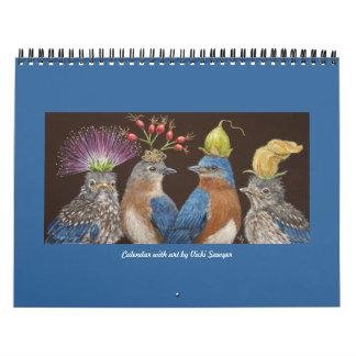 Calendario con el arte #4 del aserrador de Vicki