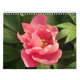 Calendario con fotografía de flores en color calendar