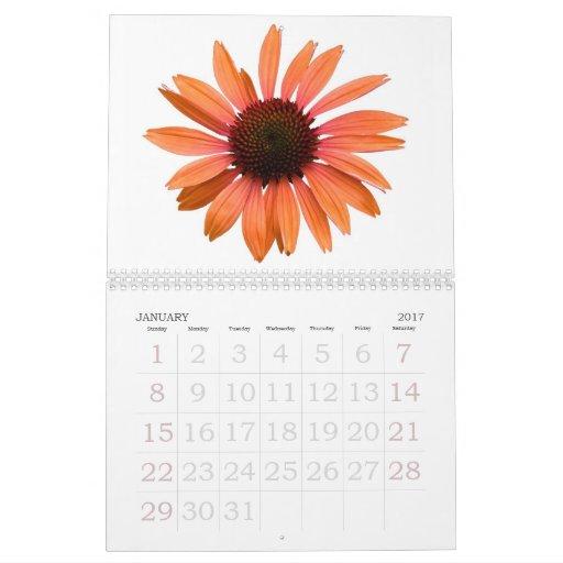Calendario con las flores del jardín