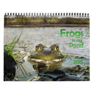 Calendario con las ranas de la charca