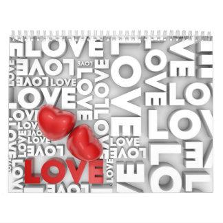 Calendario con palabra del amor