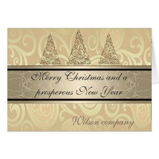 Calendario corporativo del navidad floral de moda tarjeta de felicitación