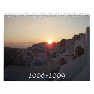 Calendario costero del paisaje