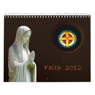 Calendario cristiano 2012 de la fe
