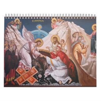 Calendario cristiano del icono