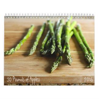Calendario crudo de 2016 ingredientes
