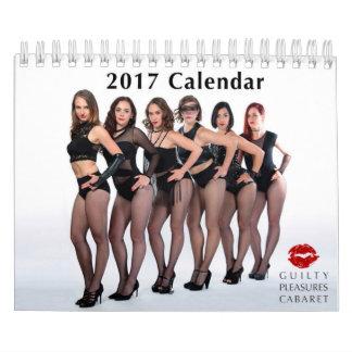 Calendario culpable del cabaret 2017 de los
