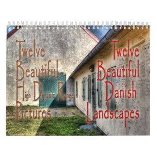 calendario danés hermoso de 12 paisajes