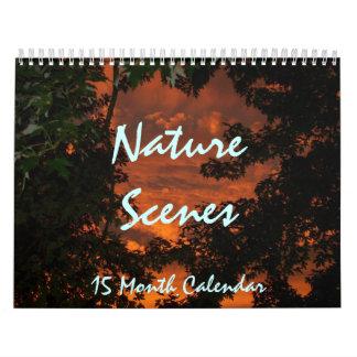 Calendario de 15 meses, NatureScenes