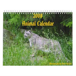 Calendario de 2008 animales
