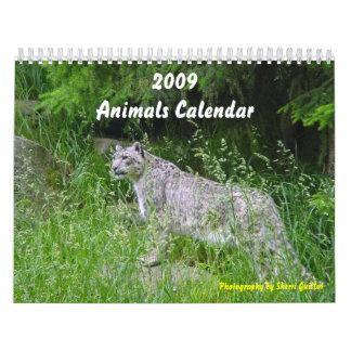 Calendario de 2009 animales