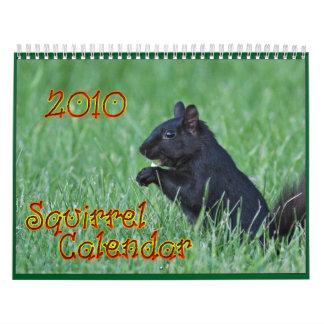 Calendario de 2010 ardillas