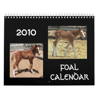 Calendario de 2010 potros