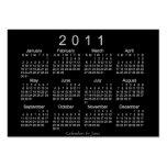 Calendario de 2011 bolsillos plantillas de tarjetas personales