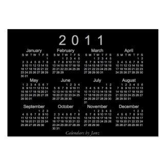 Calendario de 2011 bolsillos tarjetas de visita grandes