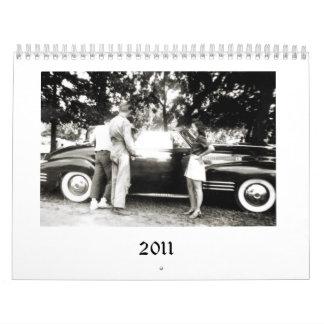 Calendario de 2011 coches viejos y de la gente