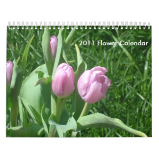 Calendario de 2011 flores