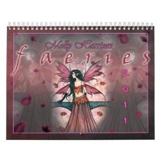 Calendario de 2011 hadas por Molly Harrison