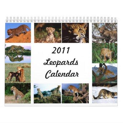 Calendario de 2011 leopardos