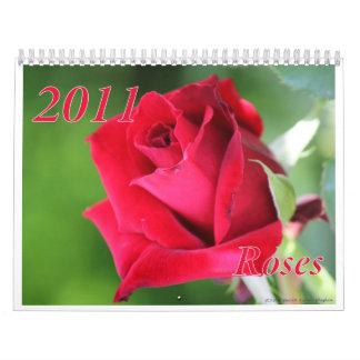 Calendario de 2011 rosas