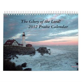 ¡Calendario de 2012 alabanzas! Calendario De Pared