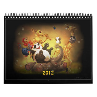 Calendario de 2012 animales