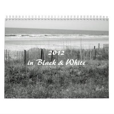 Calendario de 2012 B&W de la naturaleza