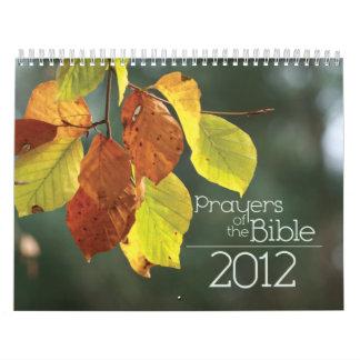 Calendario de 2012 cristianos: Rezos de la biblia