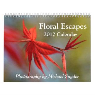 Calendario de 2012 flores