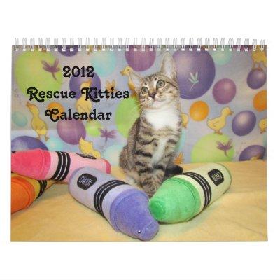 Calendario de 2012 gatitos del rescate