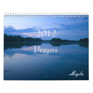 Calendario de 2012 rezos