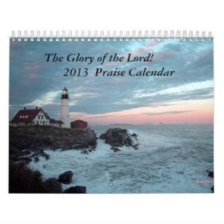 ¡Calendario de 2013 alabanzas! Calendario De Pared