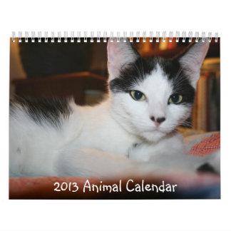 Calendario de 2013 animales